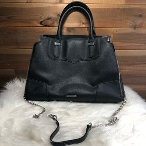 Rebecca Minkoff Amorous Black Leather Satchel
